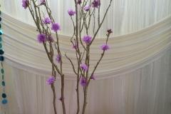 Centerpiece Birch & Flower short Vase