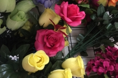 Hot Pink Yellow Roses